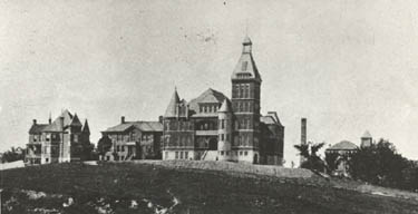 Photo of early classroom buildings on Lincoln University's campus