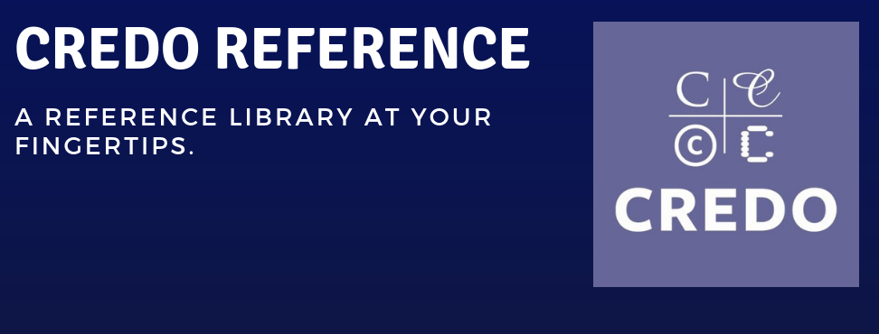 Credo Reference: A Reference Library at Your Fingertips